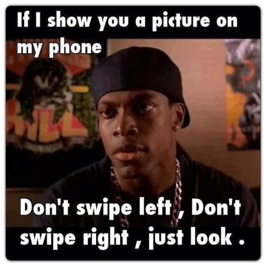Don't swipe
