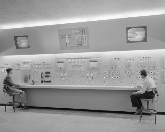 NASA control panel, 1955