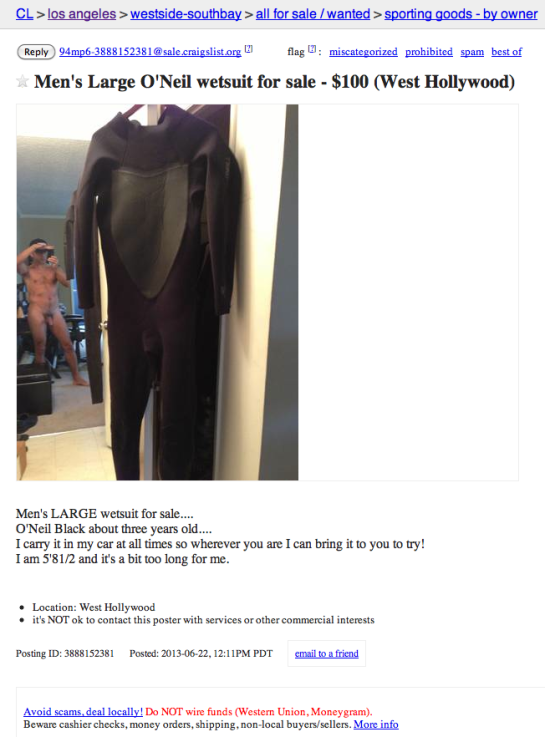 Mens Wetsuit for sale