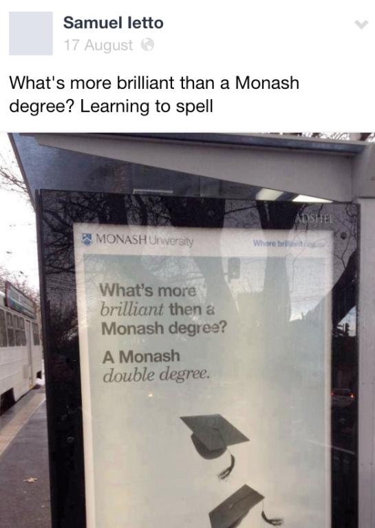 Oh, Monash